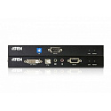 Удлинитель, KVM USB,DVI Single Link+AUDIO+RS232,  60 метр., 2xUTP Cat5e, DVI-D+2xUSB A-тип+2xMINI J