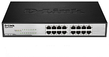 16-port UTP 10/100/1000Mbps Auto-sensing, Stand-alone, Unmanaged D-link Green technology,  802.1P Qo